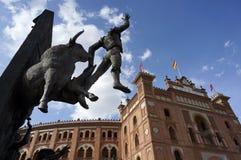 Мадрид Площадь de Toros стоковые фотографии rf