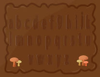 Малые алфавиты Стоковые Изображения RF