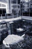Малые бассейн и сад в лобби гостиницы Gaylord, в Nati Стоковые Изображения