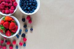 Малые белые шары заполненные с зрелыми ягодами Стоковое Изображение RF