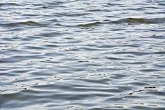 Малые волны Сморщенный поверхностной водой ветра Стоковое Фото