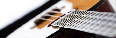 Малые гитара гавайской гитары Hawaiian 4 зашнурованная Стоковое фото RF