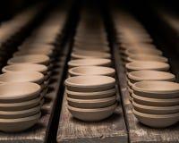Малые керамические чашки десерта Стоковые Фотографии RF