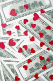 Малые красные сердца Стоковые Фотографии RF
