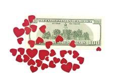 Малые красные сердца Стоковое Изображение