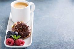 Малые мини donuts и кофе Стоковая Фотография