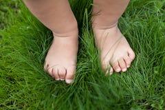 Малые милые ноги младенца. стоковое фото rf