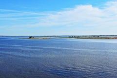 Малые острова на реке стоковое фото