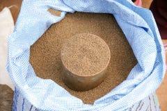 Малые семена проданные в новом рынке Стоковые Фото