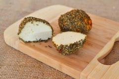 Малые швейцарские шарики Belper Knolle трудного сыра сделанное от молока ` s коровы Стоковое Изображение