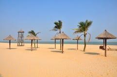 Малые pavalions на курорте на море Стоковые Изображения RF