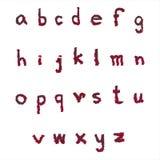 Малый абстрактный шрифт сбора Стоковые Фото