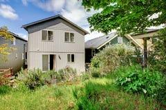 Малый американский дом в кусте Стоковое Изображение