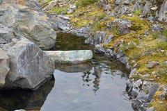 Малый бассейн воды в горах Стоковые Фото