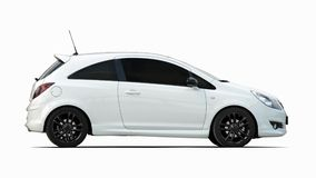 Малый белый автомобиль спорт Стоковые Изображения RF