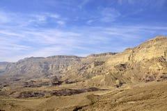 Малый взгляд кратера в пустыня Негев Стоковые Фото