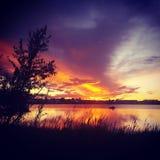 Малый восход солнца пруда Стоковые Фото