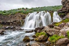 Малый водопад в Исландии Стоковая Фотография RF