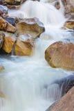 Малый водопад между большими камнями Стоковые Изображения RF
