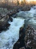 Малый водопад около больших падений Стоковая Фотография