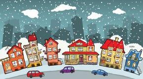 Малый город шаржа Стоковое Изображение
