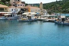 Малый греческий порт на острове Стоковое фото RF