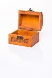 Малый деревянный маленький комод на белизне Стоковое Изображение RF