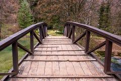 Малый деревянный мост Стоковое Фото