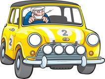 Малый желтый гоночный автомобиль Стоковые Фотографии RF