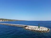 Малый зеленый маяк Carloforte, Сардиния Италия Стоковое Изображение