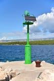 Малый зеленый солнечный маяк Стоковые Фотографии RF