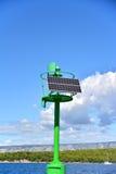 Малый зеленый солнечный маяк Стоковое Изображение