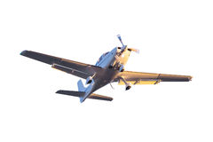 Малый изолированный самолет туриста стоковое фото