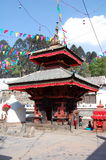 Малый индусский висок на квадрате Patan Durbar Стоковые Фотографии RF