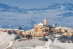 Малый итальянский городок на холме Стоковое фото RF