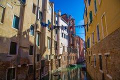 Малый канал Венеции Италия venice Стоковое Фото