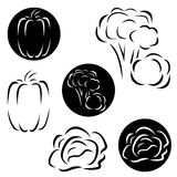 Малый комплект логотипов овощей Стоковая Фотография