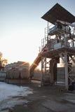 Малый конкретный дозируя завод Стоковая Фотография RF