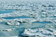 Малый, который замерли айсберг в последней осени Стоковое Изображение RF