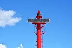 Малый красный солнечный маяк Стоковое Изображение RF
