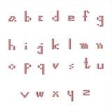 Малый красный цвет шрифта Стоковое Изображение