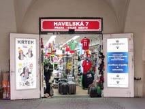 Малый магазин в Праге Стоковые Изображения
