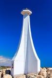 Малый маяк в Марине Zygi Кипр Стоковая Фотография
