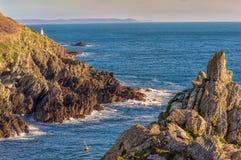 Малый маяк в Polperro Стоковые Фото