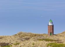 Малый маяк на дюнах Kampen, остров Sylt Стоковые Фотографии RF
