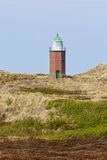 Малый маяк на Kampen, Sylt Стоковые Фотографии RF