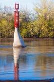 Малый маяк на Red River в Winnepeg Стоковое Изображение RF