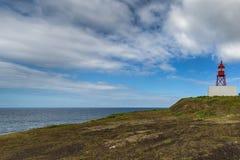 Малый маяк около порта Ponta Delgada Стоковые Изображения RF