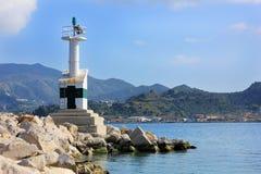 Малый маяк, остров Zante, Греция Стоковое Изображение