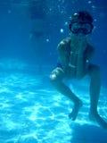 Малый мальчик водолаза Стоковое Изображение RF